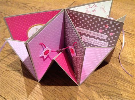selbstgebastelte geschenke zur geburt explosionskarte lovelycrafts pop up karten vorlagen popup karten basteln geburtstag