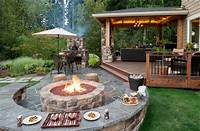 inspiring patio design ideas with fire pits Stylish Eve Backyard Inspiration: Keep Warm this Fall with ...