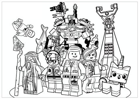 lego  movies adult coloring pages