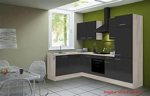 Eckkuche leon vario 2 l kuche ohne e gerate breite for Eckküche mit elektroger ten