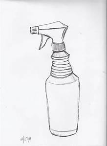 Spray Bottle Drawing At Getdrawings