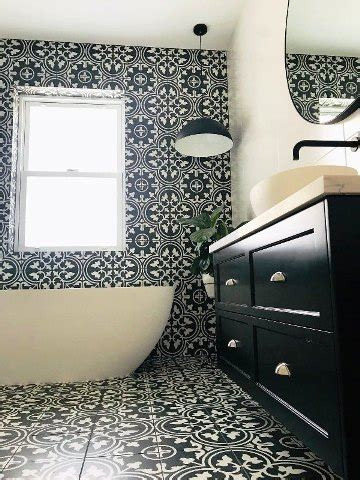 black  white tiles sydney australia kitchen bathroom