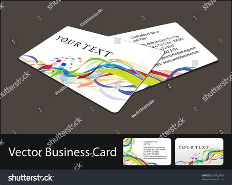 Vector Business Card Set More Business Stock Vector Business Cards Application Discount Canada Maker App Avery Front And Back Australia Embossed Scanner Iphone Free For Phone