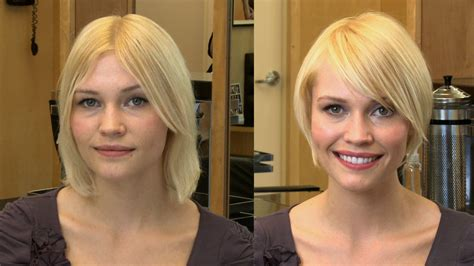 hairstyles   square face shape popsugar beauty