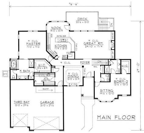 contemporary ranch  law suite house plans home design rdi  db  home design