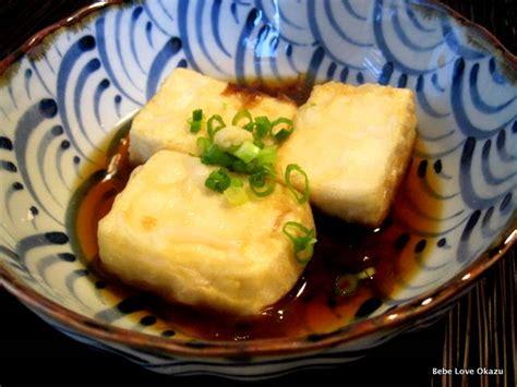 cuisine tofu agedashi tofu fried tofu bebe okazu