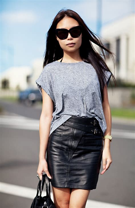 Faux Leather Skirt Outfit Ideas 2014-2015 | Fashion Trends 2016-2017