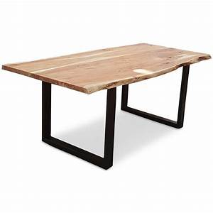 Luisine 2M Industrial Dining Table Bare Outdoors