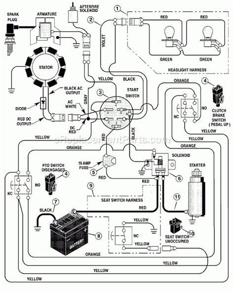 craftsman lt1000 wiring schematics 34 wiring diagram