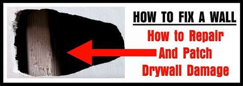 How To Fix A Wall  How To Repair And Patch Drywall Damage
