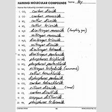 Best 25+ Naming Compounds Worksheet Ideas On Pinterest  Inorganic Compound, Chemistry And