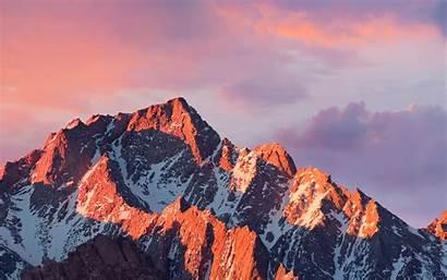 4k Apple Mountain Sierra Sunset Macbook Desktop