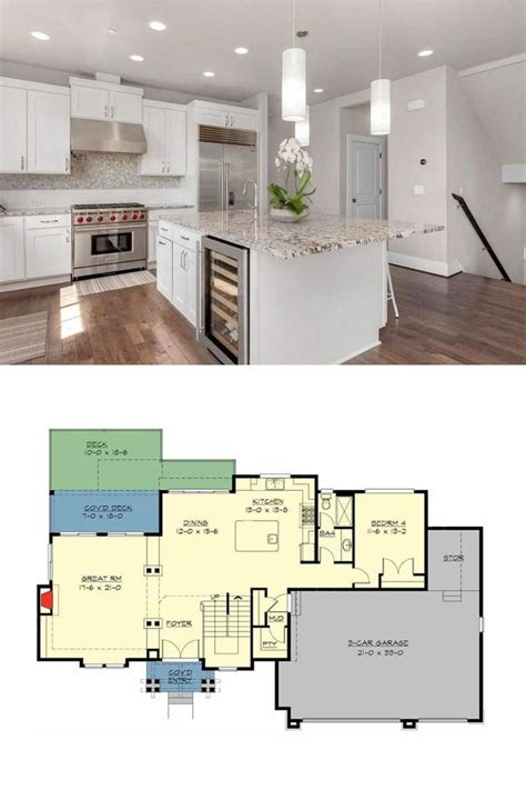 story  bedroom contemporary northwest home   law apartment floor plan  law