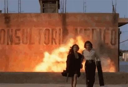 Explosion Away Walking Gifs Movies Explosions Desperado