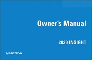 2020 Honda Insight Owners Manual