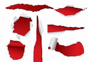 Red Ripped Paper Vectors - Download Free Vector Art, Stock ...