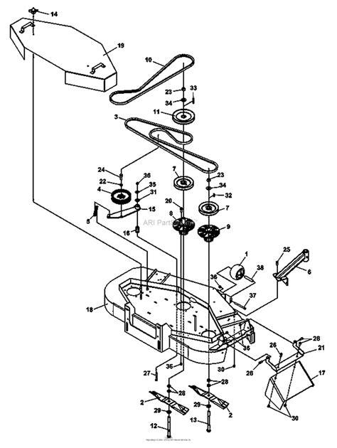 bunton bobcat ryan   hydro mid hp kaw kai parts diagram  mounting  fixed deck
