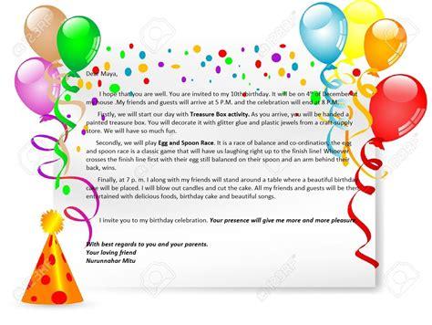birthday party invitation letter english  life