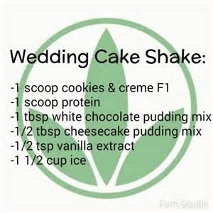 Wedding Cake Herbalife Shake