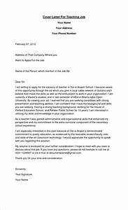 12 how to write cover letter for teaching job basic job With who to write a cover letter for job application