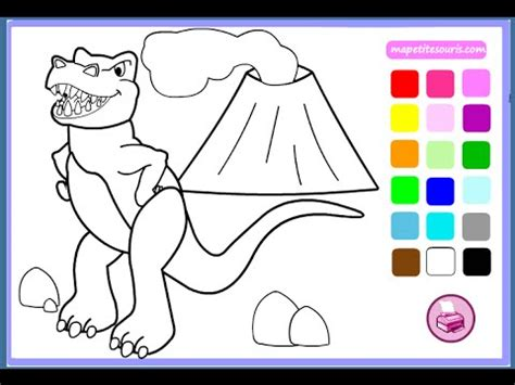 dinosaur coloring pages  kids dinosaur coloring pages games youtube