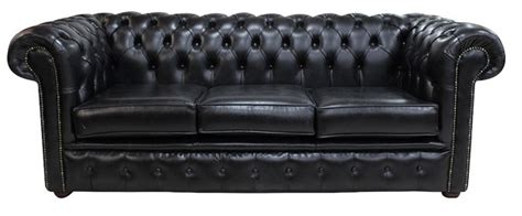 Black Settees Sale by Black Chesterfield 3 Seater Settee Sofa Designersofas4u