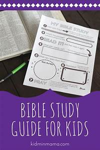 Bible Study Guide For Kids Printable