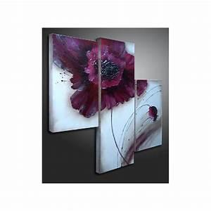 Tableau Triptyque Moderne : tableau triptyque fleur moderne tableau design l 39 art du beau dans l 39 art visuel pinterest ~ Teatrodelosmanantiales.com Idées de Décoration