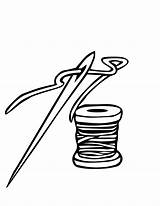 Needle Thread Clipart Threads Sheet Clip Coloring ابره Pages Cliparts Alif Ibra Kha خيط Colouring Arabic Drawing Cartoon Printable Clipground sketch template