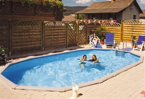 stahlwandpool oval set stahlwandpool set grande oval eingelassener pool test