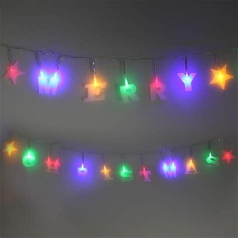 multicoloured led merry christmas string lights