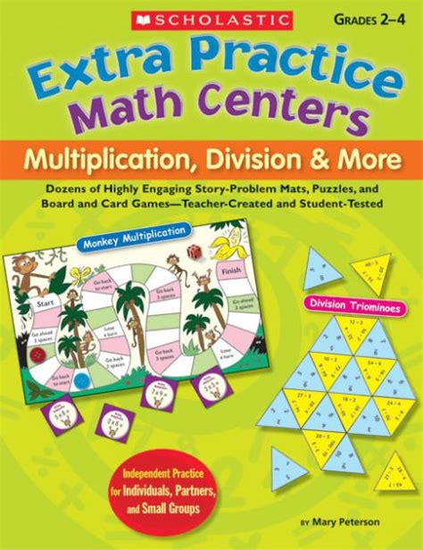 Extra Practice Math Centers Multiplication, Division & More Dozens Of Highly Engaging Story