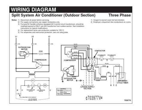 wiring diagram split system air conditioner