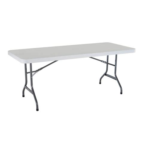 lifetime tables and chairs lifetime 6 ft white granite folding utility table 22901