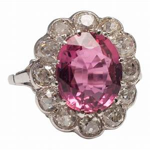 United States Ring Size Chart Pink Tourmaline Cluster Ring From Plaza Jewellery