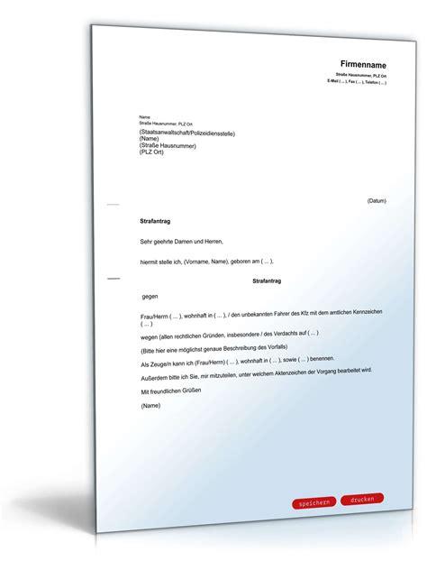 Nicht Vergessen Antraege Und Anzeigen Bei Behoerden by Strafantrag Rechtssicheres Muster Downloaden Ausf 252 Llen