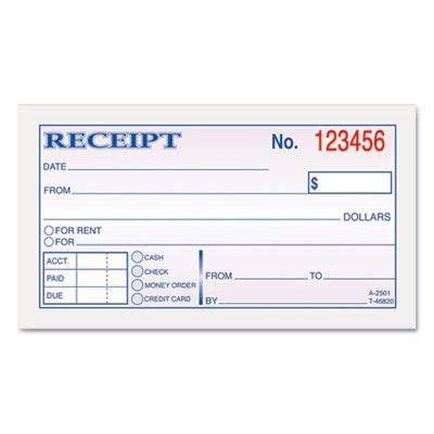 rental receipt print outs money rent receipt books