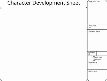 Character Development Template Professional Printable Clipart Sheet