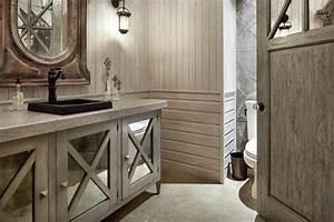 idees deco salle de bain rustique confort et chaleur en un With salle de bain design avec décoration champêtre pour anniversaire