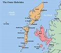 Image result for map of outer hebrides