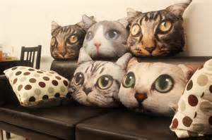 cat pillow adorable realistic printed cat cushions from carrie siamon