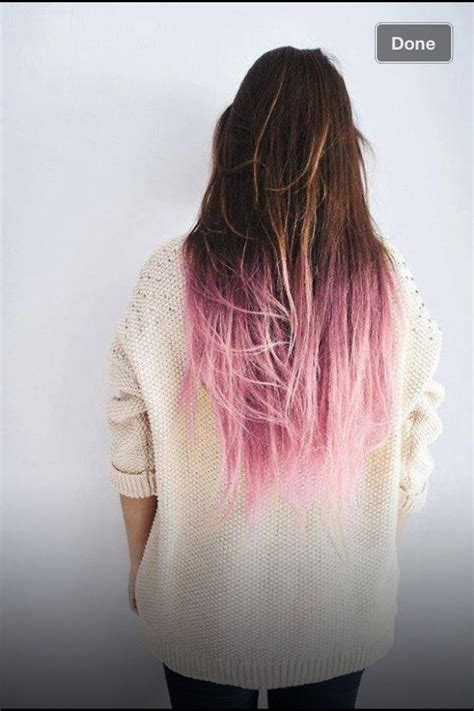 25 Best Ideas About Colored Hair Ends On Pinterest Dyed