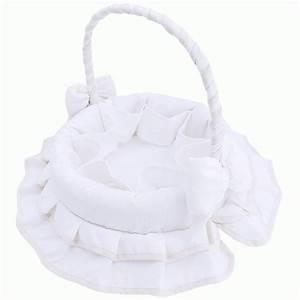 Corbeille Rangement Bébé : corbeille de toilette en tissu blanc b b babystock ~ Teatrodelosmanantiales.com Idées de Décoration