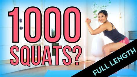 can i do 1000 squats length version