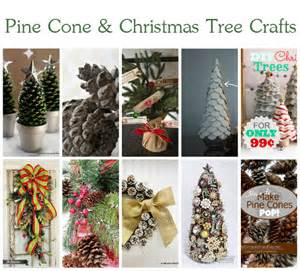 10 wonderful pine cone and christmas tree crafts