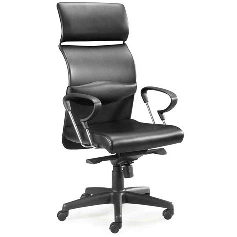 furniture ergonomic black leather high back executive
