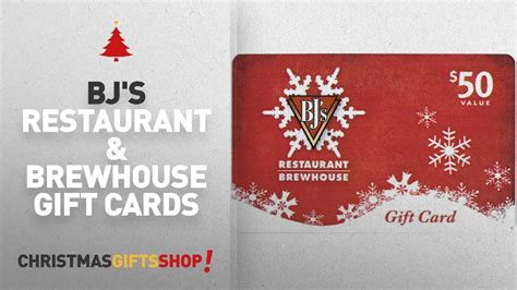 Why not get rewarded for it? Bj's Restaurant & Brewhouse Gift Cards: BJ's Restaurant Holiday Gift Card $50 - YouTube