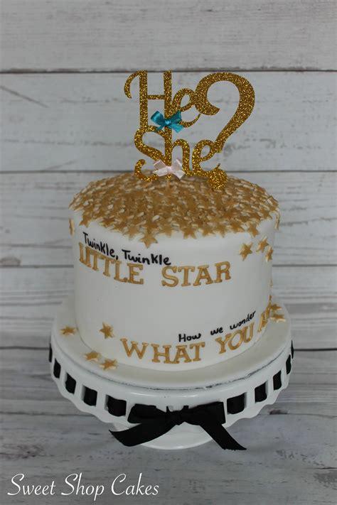 twinkle twinkle  star gender reveal cake baby