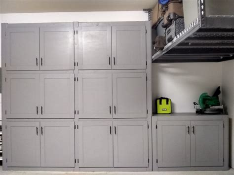 Garage Storage Cabinets With Doors by White Garage Shelves With Doors Diy Projects
