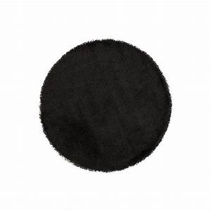 tapis shaggy rond 160 noir round achat vente tapis With tapis rond 160